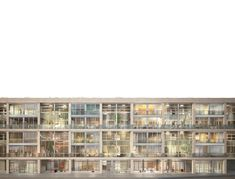 """Visualizations for Bollhalder Eberle Architektur for their contribution to the competition """"Areal Zollstrasse West"""". Image 3d, New Image, 3d Architectural Visualization, New York, Animation, Competition, Building, Architecture, New York City"""