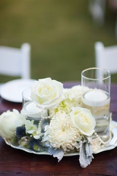 Sonoma Wedding by Borrowed Blue Old New Pearl Centerpiece, Candle Centerpieces, Centerpiece Decorations, Wedding Centerpieces, Centrepieces, Candles, Trendy Wedding, Rustic Wedding, Our Wedding