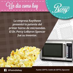 #Inventos #Curiosidades 8 de octubre de 1945 se inventó el horno de microondas  #Postres #Puebla  www.facebook.com/ElPostreDeRosy