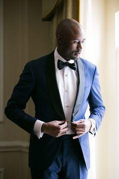 navy blue shawl lapel tuxedo  Nicholas Joseph Custom Tailors l www.customsuitsyou.com l Chicago, IL l USA