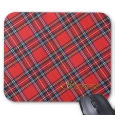 Patriotic Scottish Royal Clan Stewart Plaid Tartan Mouse Pad