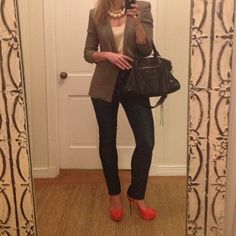 Mixing my mother's netuke #vintage #ivory necklaces with some of my favs #alexanderwang #blazer, #balenciaga and #sergiorossi #heels
