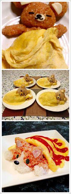 Cute breakfast idea Cute Breakfast Ideas, Funny Breakfast, Breakfast Recipes, Fun Cooking, Cooking Tips, Kids Meals, Easy Meals, Good Food, Yummy Food