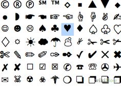 How to Type Symbols Using the ALT Key (with Mac and PC Lists).  Scroll down for number combination...so nifty!