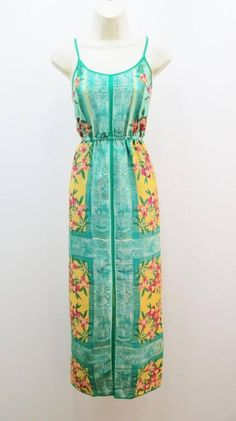 Collective Concepts Multi-Colored Green and Yellow Print Maxi Dress #CollectiveCollection #maxi #summerbeach