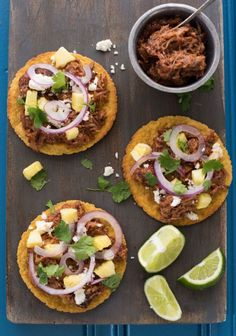 Hawaiian Pulled Pork Tostadas in the Slow Cooker Plus 7 other Simple Slow Cooker Pork Recipes ~ www.dineanddish.net