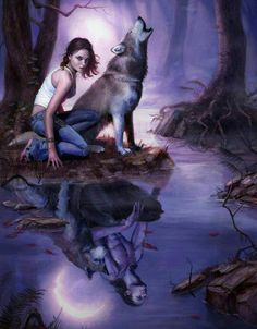 My twin sister and I stop at the riverbed. She is in her wolf form. Once it is morning, I will transform into wolfage and she will take my place as a human. No one knows of our twin werewolf bond. We look exactly the same. No one knows I have a sister. It's a curse we both bare.