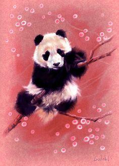 """Panda"" by Chris Wahl. http://www.redbubble.com/people/krisvahl/works/461441-panda?utm_source=pinterest&utm_medium=social&utm_campaign=jan12"