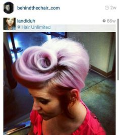 Loose victory roll. Pastel purple pixie cut!