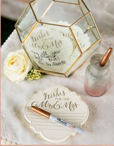 Wishes For The Mr. and Mrs. Wedding Advice Notepad Guest Book Alternative 75 Sheets