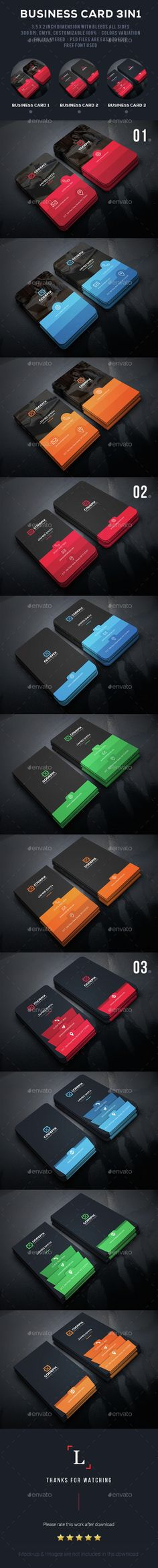 Color Shade Business Card Bundle — Photoshop PSD #photography #pack • Available here → https://graphicriver.net/item/color-shade-business-card-bundle/15105498?ref=pxcr
