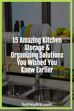 Cluttered kitchen? Running low on storage space? Then, here are 15+ small kitchen organization ideas that help you clear out the clutter and bring everything back in order again! From under the sink organization to countertop organizations ideas, you'll find the best way to utilize storage space, label and group your items together for a neat and organized kitchen! Visit the post now! #homewhis #kitchenorganization #undersinkorganization #declutter #cabinetorganization #fridgeorganization Kitchen Countertop Organization, Under Sink Organization, Sink Organizer, Spice Organization, Fridge Shelves, Kitchen Shelves, Kitchen Storage, Kitchen Trash Cans, Organized Kitchen