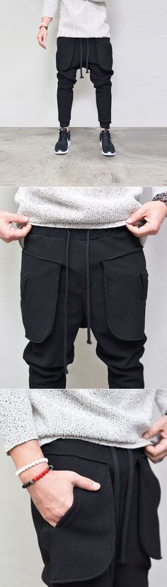 Bottoms :: Sweatpants :: Waffle Fleece Baggy Jogger-Sweatpants 340 - GUYLOOK Men's Trendy Fashion Clothing Online
