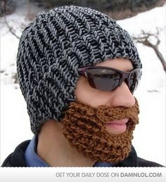 Will knit if husband is willing to wear this. It's a good way to keep your face warm in winter!