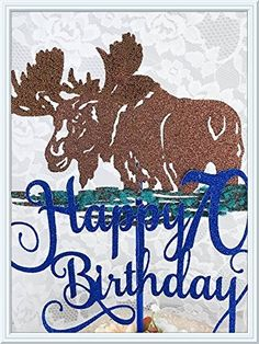 camping cake decor - Moose Cake Topper *** To view further for this item, visit the image link. (This is an affiliate link) #CampingSupplies Moose Cake, Camping Cakes, Moose Decor, Camping Supplies, Glitter Cards, 70th Birthday, Cake Toppers, Card Stock, Cake Decorating