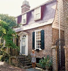 Brick front Charleston cottage