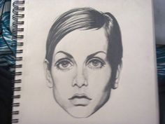 Twiggy, famous english model of the 60s