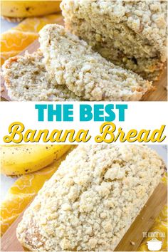 The best banana bread The Best Banana Nut Bread recipe from The Country Cook Banana Bread Recipe Video, Nut Bread Recipe, Homemade Banana Bread, Best Banana Bread, Healthy Banana Bread, Bread Recipes, Easy Recipes, Baking Recipes, Banana Nut Muffins