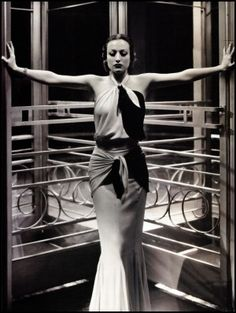 Joan Crawford in a Gown by Adrian for Letty Lynton, 1932