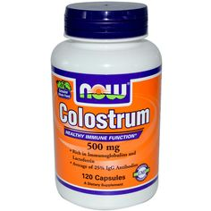 Now Foods, Colostrum, 500 mg, 120 Capsules - iHerb.com