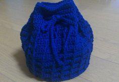 【編み図】ワッフル編みの巾着 – かぎ針編みの無料編み図 Atelier *mati*