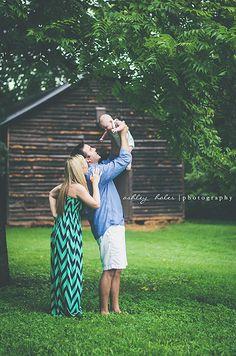 Family Photography Session - chevron print is always nice when others wear solids.