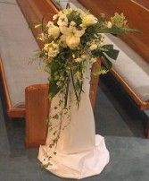 CASCADE PEW MARKER<br/>Wedding Ceremony Flowers