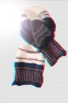 no more grey days / 3d scarf