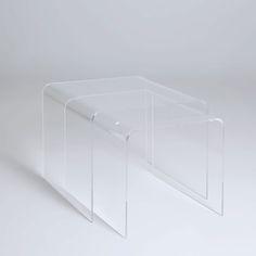 Bord i plexiglas (Sæt med 2 stk.)