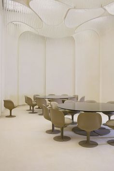 "thedesigncollector: ""Pierre Paulin: Dining room, Palais de L'Elysee, 1972 """