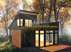 Find out all of the information about the Industries Bonneville product: prefab micro-house / contemporary NANO. Tiny House Cabin, Tiny House Living, My House, Modern Tiny House, Casas The Sims 4, Casas Containers, Small House Design, Modular Homes, Little Houses