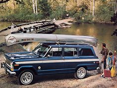 Great way to get in the backwoods with the family! Jeep Cherokee SJ circa 1978.