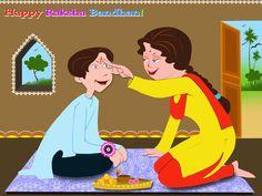 Brother and Sister on Raksha Bandhan