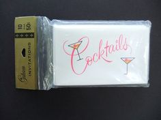 Vintage Cocktails Invitations Formal-with by michiegoodsny on Etsy