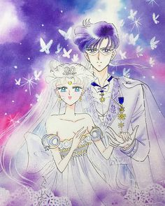 Neo Queen Serenity and Neo King Endymion of Century Crystal Toyko Sailor Moons, Sailor Moon Manga, Sailor Moon Kunst, Sailor Moon Fan Art, Sailor Jupiter, Sailor Venus, Neo-queen Serenity, Princess Serenity, Disney Marvel