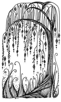 weeping willow tree black and white tattoo - Google Search