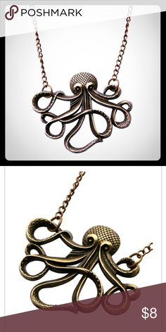 NWT Cute Octopus Necklace Adorable Bronze Octopus Necklace!!! Necklace length: 72cm Vintage style necklace! Jewelry Necklaces