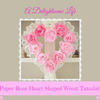 Coffee Filter Rose Heart-Shaped Wreath Tutorial