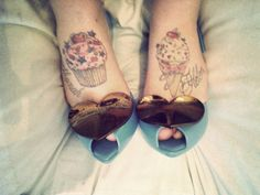 Cupcake Tattoo- Christa Renee- check these out!:)