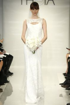 The Theia White Fall 2014 Bridal Collection is Dramatic and Beautiful