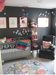 Love the charcoal walls