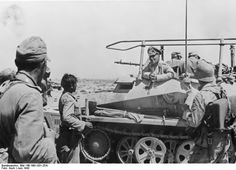 Erwin Rommel - talks to soldiers of the German army in the fortified ring around Tobruk, Libya, June War Of Attrition, Erwin Rommel, Voice Of America, Turkish Army, Thunder And Lightning, South Vietnam, Battle Of Britain, Royal Air Force, Luftwaffe