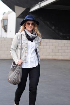 Pops of Gray | Winter in LA | How to Wear Jean Jacket | via @lucismorsels :: LA Denim Fashion Blog