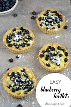 Blueberry Tartlets are the perfect dessert. Includes tips for a custard that is great for beginning bakers.