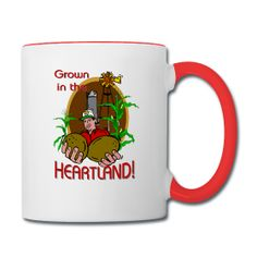 PersonalizedSouvenirs.com: You may want to use the text tool to personalize this Heartland Farmer Coffee Mug.