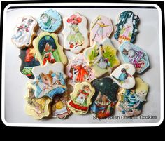 Hand painted Vera the Mouse cookies by 	Kim-Sugar Rush Custom Cookies