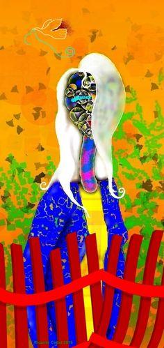 #artecontemporáneo #dibujo Ella te observa detras de la cerca roja #diseño #desing #art #ilustracion#artedigital #ilustration #RicardoCadet #hechoenVenezuela #madeinVenezuela
