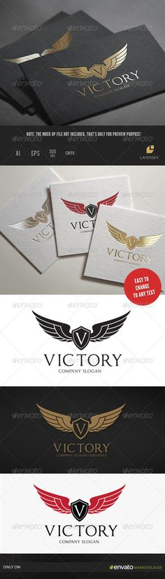 Victory — Vector EPS #crest #lion • Available here → https://graphicriver.net/item/victory/7973599?ref=pxcr