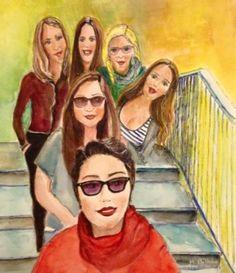 "Saatchi Art Artist Mar Bilbao ART; Painting, ""Woman in Red"" #art"