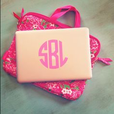 The first thing I'm doing when I get my MacBook is getting a case with my monogram on it
